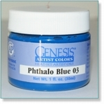 410112 - Paint :  Genesis Phthalo Blue 03