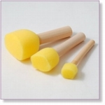 7405 - Paint Supplies : Mushroom Sponges 3 pices