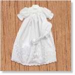 7633 - Clothing : White christening gown with hat