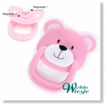 792027 - Accessories : Reborn Pacifier Pink - Bear