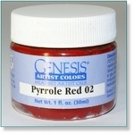 410121 - Paint :  Genesis Pyrrole Red 02